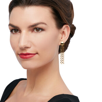 Italian 14kt Yellow Gold Multi-Strand Drop Earrings, , default