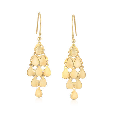 14kt Yellow Gold Chandelier Drop Earrings, , default