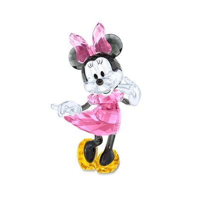 "Swarovski Crystal ""Disney's Minnie Mouse"" Multicolored Crystal Figurine, , default"