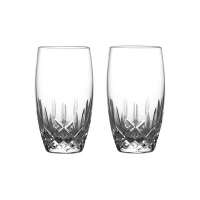 "Waterford Crystal ""Nouveau"" Set of 2 Lismore Drinking Glasses"