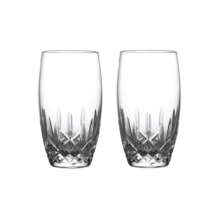 """Waterford Crystal """"Nouveau"""" Set of 2 Lismore Drinking Glasses"""