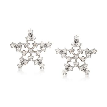 .20 ct. t.w. Diamond Star Stud Earrings in 14kt Yellow Gold, , default