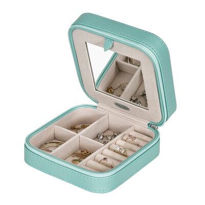 """Mele & Co. """"Josette"""" Mint Faux Leather Travel Jewelry Case, , default"""