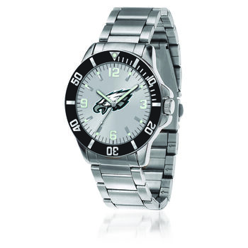 Men's 46mm NFL Philadelphia Eagles Stainless Steel Key Watch, , default
