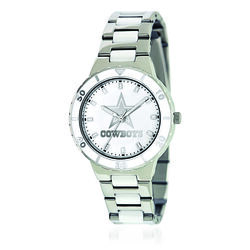 Ladies 36mm NFL Dallas Cowboys Stainless Steel Watch With Mother-Of-Pearl Dial, , default