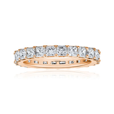 2.75 ct. t.w. Princess-Cut Diamond Eternity Band in 14kt Rose Gold, , default