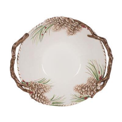 "Fitz and Floyd ""Forest Frost"" Centerpiece Serving Bowl , , default"