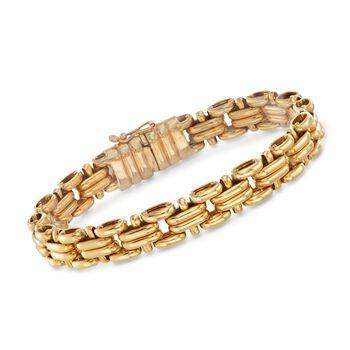 "Italian 18kt Yellow Gold Multi-Link Bracelet. 7.75"", , default"
