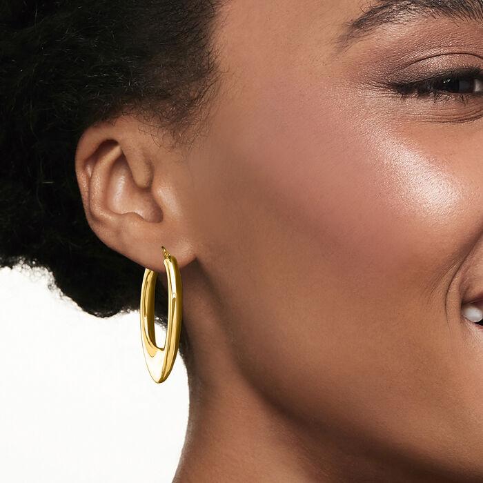 Italian Andiamo 14kt Yellow Gold Hoop Earrings