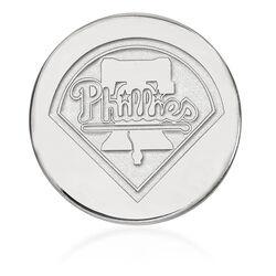 14kt White Gold MLB Philadelphia Phillies Lapel Pin, , default
