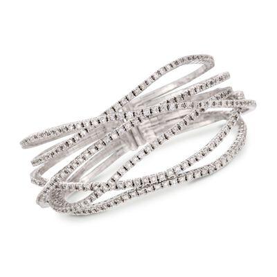 7.65 ct. t.w. Diamond Criss-Cross Bracelet in 18kt White Gold, , default