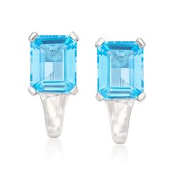 8.75 ct. t.w. Blue Topaz Earrings in Sterling Silver, , default