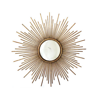 Sunburst Glass Wall Mirror, , default
