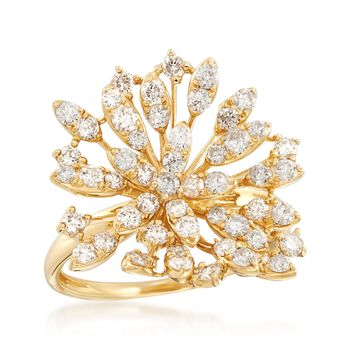 1.27 ct. t.w. Diamond Star Ring in 14kt Yellow Gold, , default