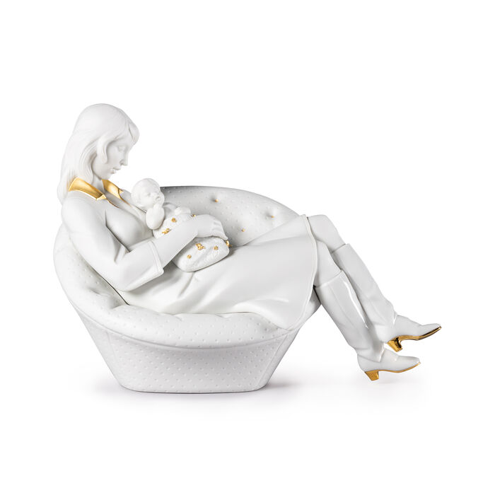 "Lladro ""Feels Like Heaven"" Mother and Child Porcelain Figurine, , default"