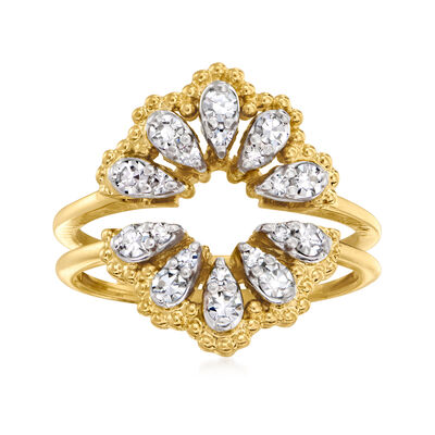 C. 1995 Vintage Jbell .40 ct. t.w. Diamond Ring Guard in 18kt Yellow Gold