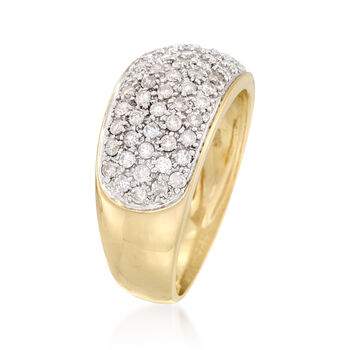 .70 ct. t.w. Pave Diamond Ring in 14kt Yellow Gold, , default