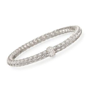 "Roberto Coin ""Primavera"" .24 ct. t.w. Diamond Bracelet in 18kt White Gold. 7"", , default"