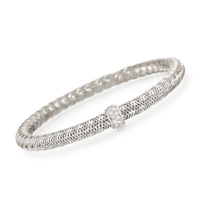 "Roberto Coin ""Primavera"" .24 ct. t.w. Diamond Bracelet in 18kt White Gold, , default"