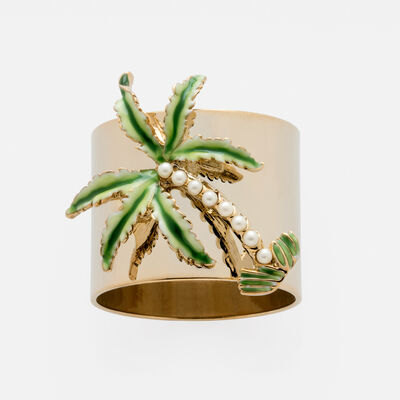 Joanna Buchanan Set of 2 Palm Tree Napkin Rings, , default