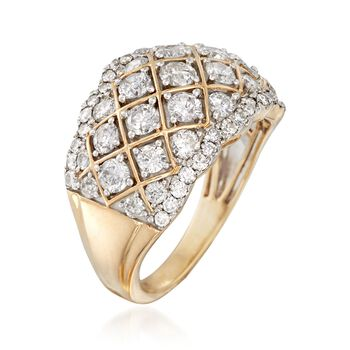 2.00 ct. t.w. Diamond Quilt Ring in 14kt Yellow Gold, , default