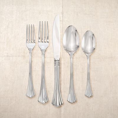 "Studio Silversmiths ""Iconic Flute"" 18/0 Stainless Steel Flatware, , default"