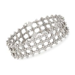 "C. 1970 Vintage Tiffany Jewelry 8.50 ct. t.w. Diamond Lattice Bracelet in Platinum. 7"", , default"