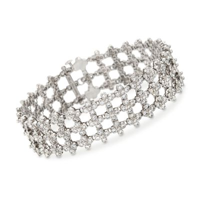 C. 1970 Vintage Tiffany Jewelry 8.50 ct. t.w. Diamond Lattice Bracelet in Platinum, , default