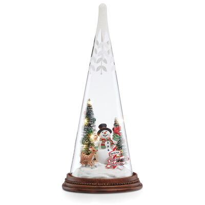Lenox Light-Up Snowman and Pals Glass Tree, , default