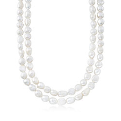 9-10mm Cultured Baroque Pearl Endless Necklace, , default