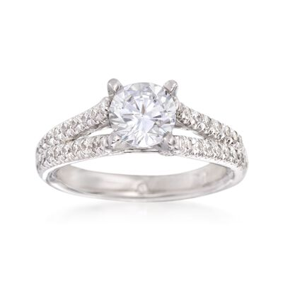 Gabriel Designs .40 ct. t.w. Diamond Engagement Ring Setting in 14kt White Gold