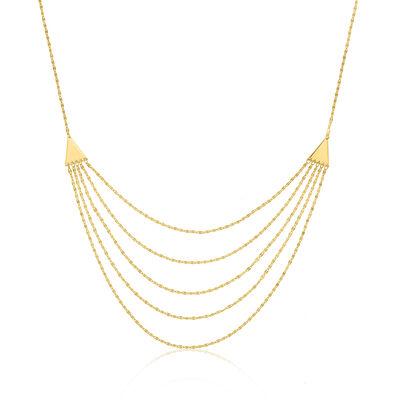 14kt Yellow Gold Multi-Layered Forzatina Bib Necklace