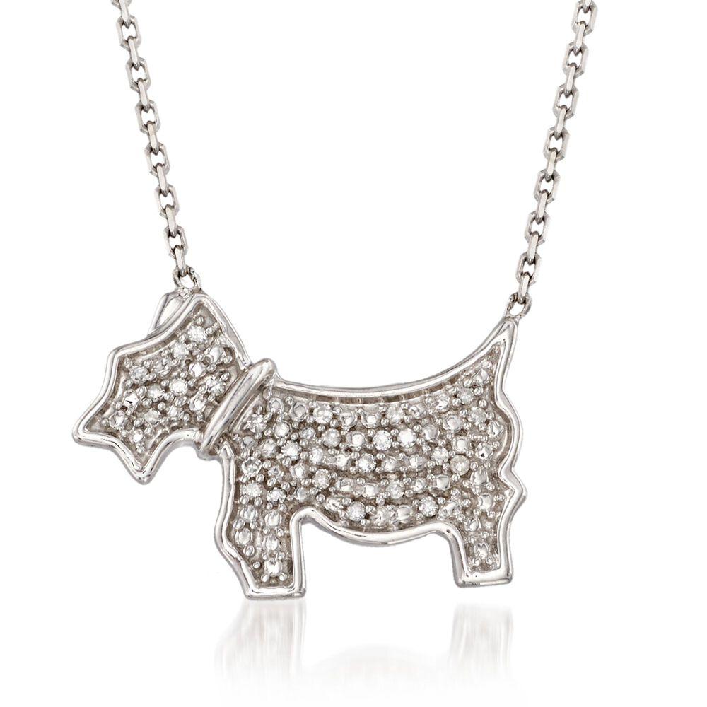 3e0dfbc0274 Diamond Accent Scottie Dog Necklace In Sterling Silver 16 Ross