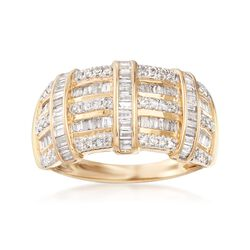 .75 ct. t.w. Diamond Multi-Row Ring in 14kt Yellow Gold, , default