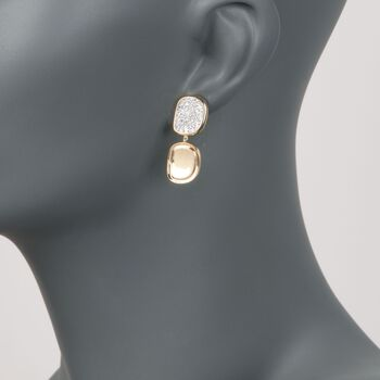 Roberto Coin 1.35 ct. t.w. Diamond Free-Form Drop Earrings in 18kt Yellow Gold , , default