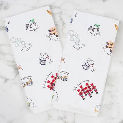 Set of 4 Twelve Days of Christmas Kitchen Towels, , default