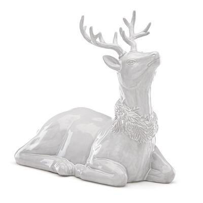 """Lenox """"Alpine"""" Carved Reindeer Stoneware Centerpiece, , default"""