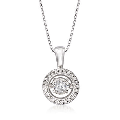 C. 2010 Vintage .30 ct. t.w. Diamond Pendant Necklace in 10kt White Gold
