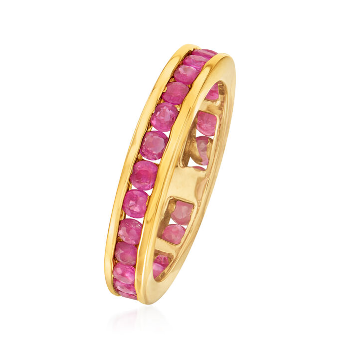 1.60 ct. t.w. Ruby Eternity Band in 14kt Yellow Gold