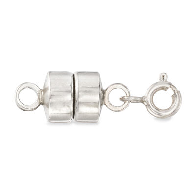 Italian Sterling Silver Magnetic Clasp Converter, , default