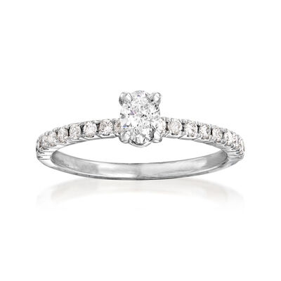 .54 ct. t.w. Diamond Engagement Ring in 14kt White Gold, , default