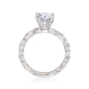 Gabriel Designs .13 ct. t.w. Diamond Engagement Ring Setting in 14kt White Gold, , default