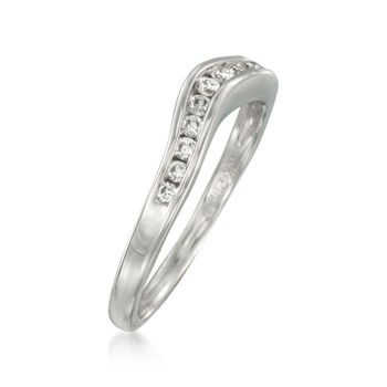 .20 ct. t.w. Curved Diamond Wedding Ring in 14kt White Gold, , default