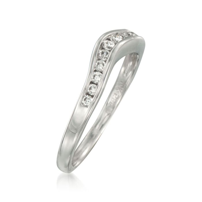 .20 ct. t.w. Curved Diamond Wedding Ring in 14kt White Gold