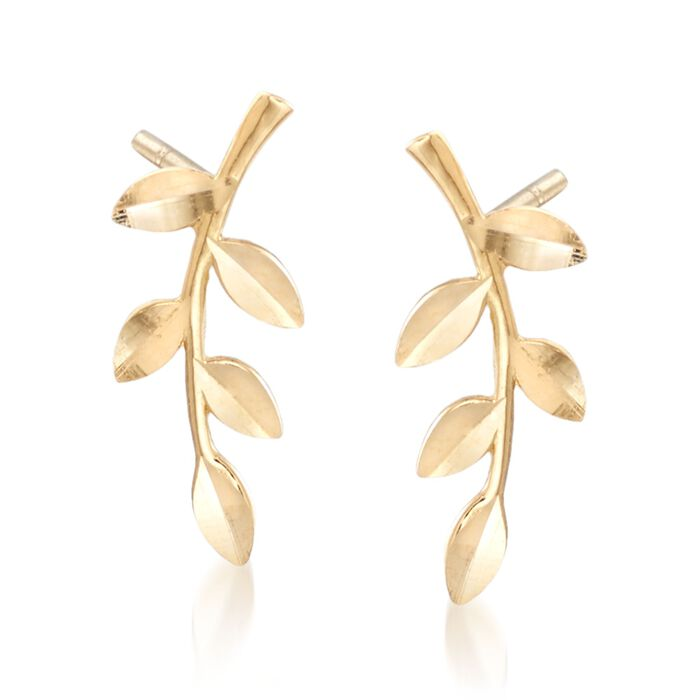 18kt Yellow Gold Branch Earrings