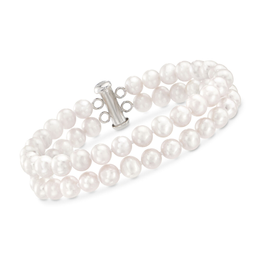 c74df7646c443 6-6.5mm Cultured Pearl Bracelet with Sterling Silver Clasp | Ross-Simons