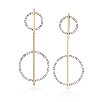 1.00 ct. t.w. Diamond Geometric Drop Earrings in 14kt Yellow Gold, , default