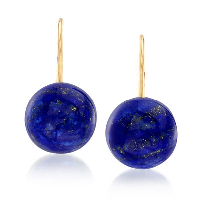 Lapis Earrings in 14kt Yellow Gold, , default