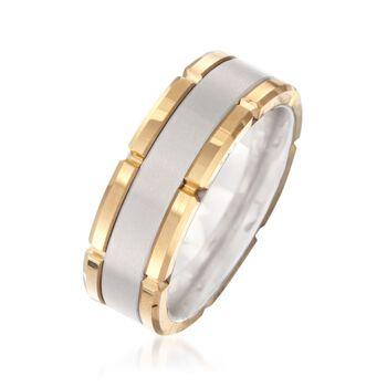 Men's 8mm Tungsten Carbide Brushed Wedding Ring, , default