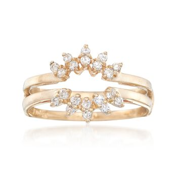 C. 1990 Vintage .30 ct. t.w. Diamond Ring Guard in 14kt Yellow Gold. Size 6.5, , default